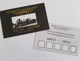 5 Day Rail Pass  - valid until end of 2020/2021 Summer Season