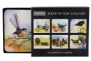 Birds of New Zealand Coaster Set of 6
