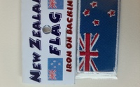 New Zealand Flag Small Iron On Patch
